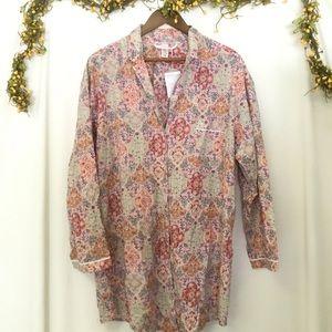 NWOT Victoria's Secret sleepshirt pink Aztec sz XL